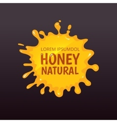 Yellow honey blot isolate vector image