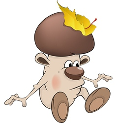 Mushroom the wizard vector