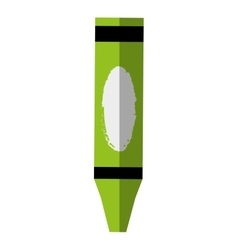 Crayon school supply isolated icon vector