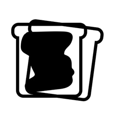 Toast bread with jam vector