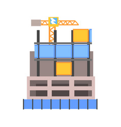 Modern building construction vector