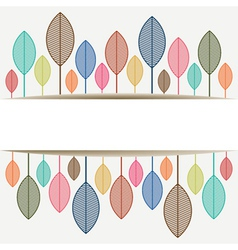 Colored leaves with place for text copy-space vector