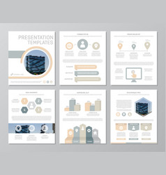 set of gray and yellow elements for multipurpose vector image