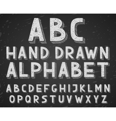 Hand drawn doodle sketch alphabet letters vector