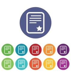 Best document icons colored set vector