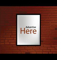 Advertising wall vector