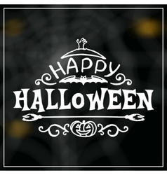 Happy halloween message design on unfocused vector