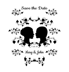 Save the date vintage design vector