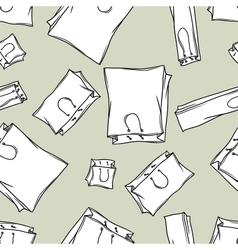 Hand drawn shopping bags seamless pattern vector image