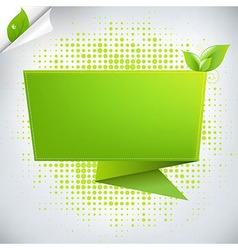 Abstract Background With Origami vector image vector image