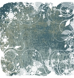 Abstract winter grunge background vector image vector image