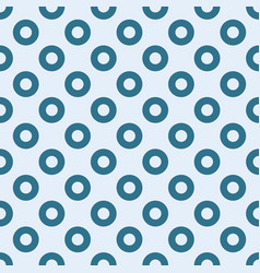 Blue circles seamless pattern vector