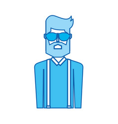 Blue icon upper body man vector