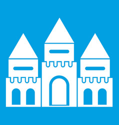 Children house castle icon white vector
