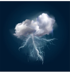 cloud and lightnings vector image