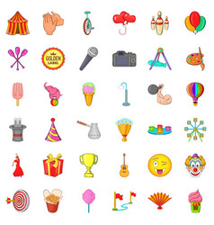 colorful balloon icons set cartoon style vector image vector image