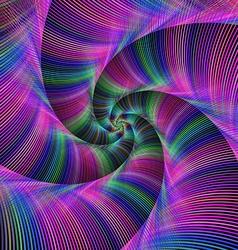 Colorful fractal spiral tentacles vector