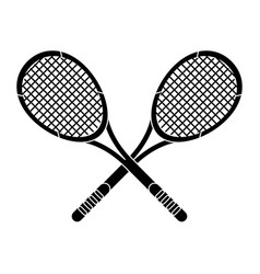 crossed racket sport image pictogram vector image