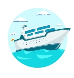 Cruise liner ship vector