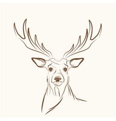 Deer free spirit concept image vector