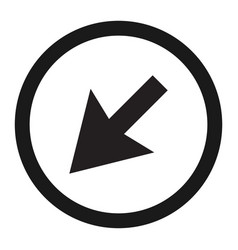 detour to the left sign line icon vector image vector image