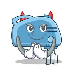 Devil mixer character cartoon style vector