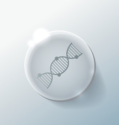 DNA helix Medical Research character Icon vector image