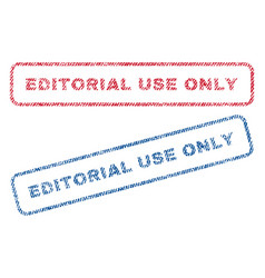 Editorial use only textile stamps vector