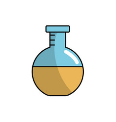 Erlenmeyer flask to lab chemical design vector