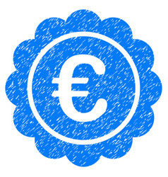 Euro reward seal grunge icon vector