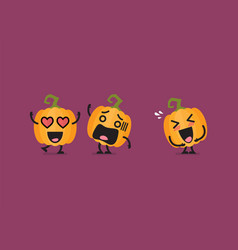 Funny pumpkin character vector