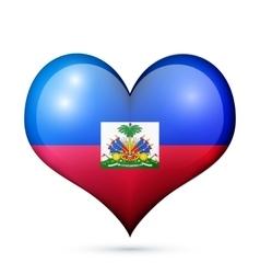 Haiti heart flag icon vector