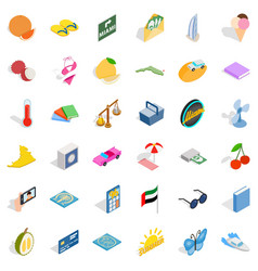 Happiness icons set isometric style vector