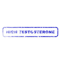 High testosterone rubber stamp vector