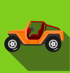 Icons off-road vehicle with long shadow extreme vector