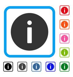 Info framed icon vector