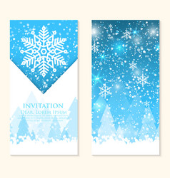 Invitation card with snowflakes vector
