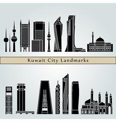 Kuwait city v2 landmarks vector