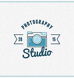 Photography Logo Design Template Retro Badge vector image