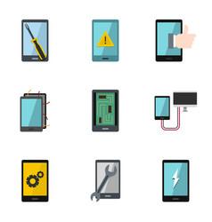 Repair phones fix icon set flat style vector
