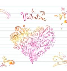 Sketchy doodle heart vector