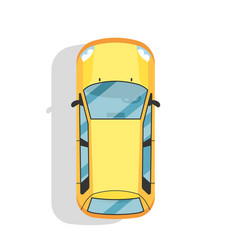 Top view modern city car isolated icon vector