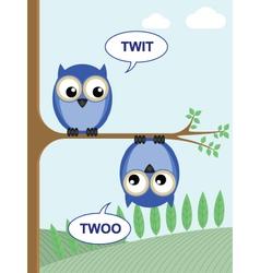 twit twoo vector image vector image