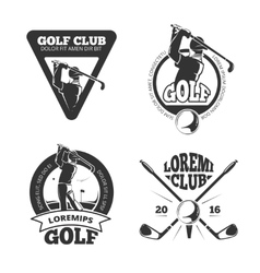 Vintage golf club labels emblems badges vector
