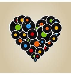 Vinyl heart vector image