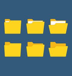 yellow folder vector image vector image