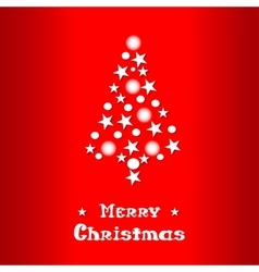 Christmas and new year red background with vector