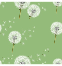 Background seamless pattern with dandelion vector image