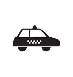 Black icon on white background taxi vector