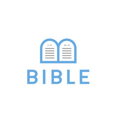 Logo bible letter b tablets with the commandments vector